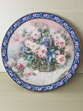 """Lena Liu'S Basket Bouquets 1992 First Issue """"Roses"""" Collectible Plate, Mint Cond"""
