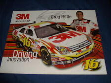 2008 GREG BIFFLE #16 3M NASCAR POSTCARD