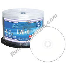 50 Optical Quantum 16x 4.7GB DVD+R White Thermal HUB Printable Blank Media Discs