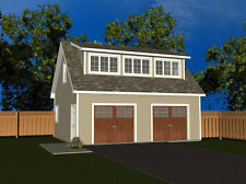 26'x20'  Garage plan with 2 hinged garage doors - blueprint #1339-1032