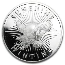 1 oz Silver Round - Sunshine Mint (MintMark SI) - SKU #72283