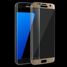 ^ Samsung Galaxy S9 3D Curved Schutzfolie Hart Glas 9H GOLD Echt FULL FACE