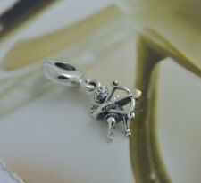 Authentic Pandora silver Bead charm valentine love angel cupid with gold 791251
