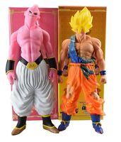DRAGON BALL Z - GOKU SUPER SAIYAN & MAJIN BUU FIGURINES TAILLE GRANDE: 46 cm