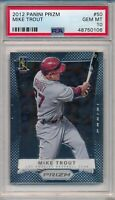 Mike Trout 2012 Panini Prizm #50 Rookie RC Gem Mint PSA 10