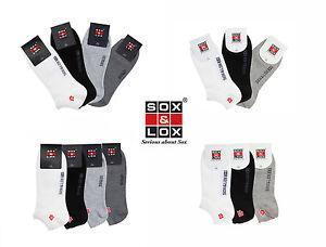 SOX&LOX - Mens & Womens Sports Cushioned or Casual Thin - Non-Slip Low Cut Socks