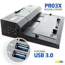 DELL PRO3X E-Port Replicator II Docking Station USB 3.0 E6410 E6420 E6430 E6510