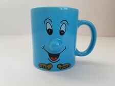 Blue Smiley Face Coffee Mug 3d protruding nose