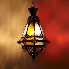 Orientalische Hängeleuchte Houta Multifarbig Hängelaterne marokkanische Lampe