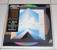 LaserDisc BACH Violin Concerto No 2 - Magnificat HERBERT VON KARAJAN LD dvd