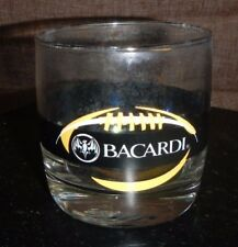 Bacardi Rum Football Glass, Black and Gold Steelers Colors