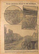 Bataille la Meuse Poilus Tranchées Poste Avancé Obusiers Lance Grenades 1916 WWI