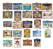 Traditional German Coppenrath Huge Big Advent calendar glitter & hanging ribbons