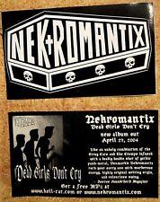 Nekromantix 2004 Promo Sticker ~ die-cut coffin and skulls