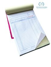 50 pages DUPLICATE A5 INVOICE BOOK / PAD PRINT / NCR / RECEIPT/ ORDER 1 book