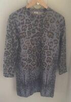 Zara Animal Print Sweatshirt Tunic Dress Size Small