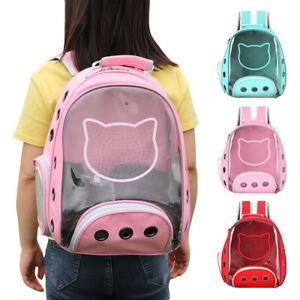 Soft Pet Cat Backpack Carrier Small Dog Puppy Bubble Travel Bag Transparent Tote