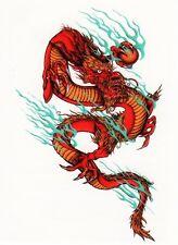 Temporary Tattoo, Einmal Tattoo  Bullseye BTS-04, wunderschöner Drache