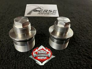 THUNDER MOUNTAIN CUSTOM  CYCLE / PERSE PERFORMANCE fork tube caps