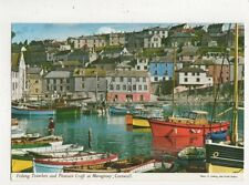 Fishing Trawlers & Pleasure Craft at Mevagissey Cornwall Postcard 810a