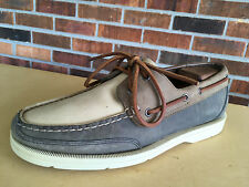 Rockport Men's Leather Slip-on Boat Shoes Tan Size 8 W                     F11(5