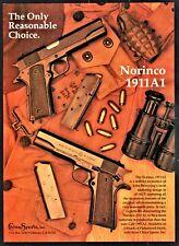 1993 NORINCO 1911A .45 ACP Pistol China Sports PRINT AD Advertising