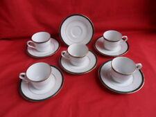 Boots (Noritake) Hanover Green, 5 x Coffee Cups & saucers