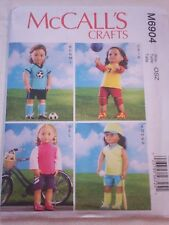 "McCall's Sewing Pattern #6904 - 18"" Doll Clothes"