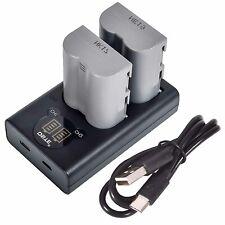 DSTE 2x EN-EL3E with Dual LCD Battery Charger Kit for Nikon D70, D70S,D300,D700