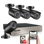 ZOSI 5MP Lite 8CH DVR 1080P Outdoor Security Camera System with Hard Drive 1TB