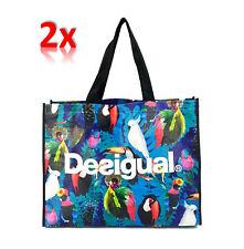 DESIGUAL Handtasche Shopper in Buntfarben, Einkauftasche Strandtasche Beach Bag