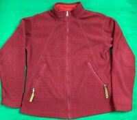 Patagonia Synchilla Full Zip Fleece Jacket Women's SZ L Maroon/Red Made In USA