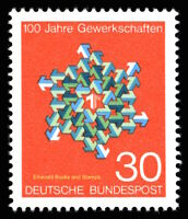 EBS Germany 1968 - 100th Anniversary Trade Unions in Germany - Michel 570 MNH**