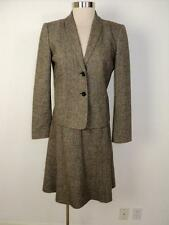CALVIN KLEIN Size 4 Brown with Gold Flecks Skirt Suit 4