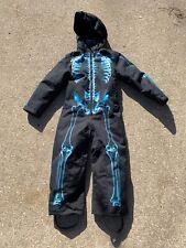 MOLO Pax X Ray Snowsuit 110 / 5Y Black Blue Front Zipper Detachable Hood NWT