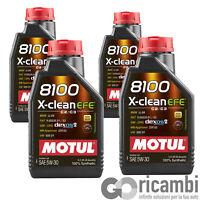 4 LT Olio motore Motul 8100 x-Clean EFE 5W30 Acea C2 C3 Fiat Opel Dexos 2