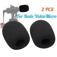 2x Microphone Windscreen Sponge Foam Cover For Rode VideoMicro Audio  NEW 🔥