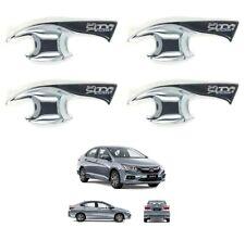 4 Door Handle Bowl Trim Insert Cover Chrome For 2014-2018 Honda City Sedan 4-Dr