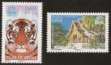 :-)FRANCE 2006 - Timbres de Service UNESCO n° 134 et 135 NEUFS** LUXE MNH
