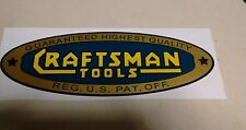 """Craftsman lathe vintage 1930's style decal 8-7/8"""" early blue gold yellow toolbox"""
