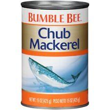 (6 Cans) Bumble Bee Chub Mackerel Fish 15 oz Each Exp 11/2023