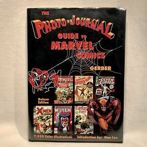 The Photo-Journal Guide to Marvel Comics DELUXE EDITION - SIGNED BY STAN LEE