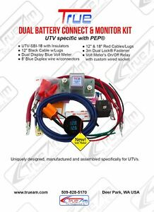 TRUE UTV-SBI-18CM Dual Battery Isolator Connect and Monitor Kit