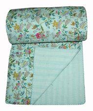 King Size Kantha bedspread, bed cover gudri 100% Cotton Blanket Hippie Bedsheet