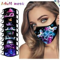Fashion Face Mask Cotton Reusable Washable Adult Kids Double Layer Mouth Cover