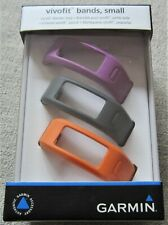 Genuine Garmin Vivofit 3-Pack Wrist Bands - Purple, Black and Orange Size Small