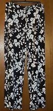Chaus New York Black & White Floral Print Palazzo Pants-Size L-NWT!!
