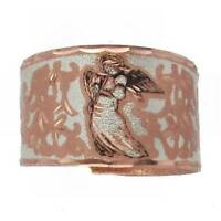 Solid Copper Ring Angel Silver Plated Handmade Celestial Jewelry Gift Adjustable