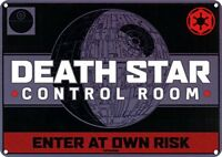 Star Wars Death Star Control Room Metal Wall Sign (21 x 15cm) HALF MOON BAY