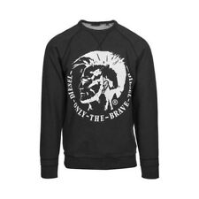NEW MENS DIESEL ORESTES ONLY THE BRAVE GRAPHIC SWEATSHIRT M $128